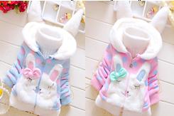 2017 девушка осень зима корейский девочки свитер утолщенные внешний крышка принцесса женщина ребенок ребятишки 0-1-2-3 лет