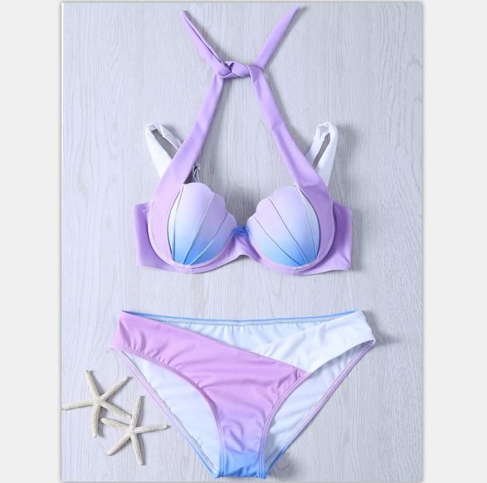 2018 новый купальный костюм европа и америка внешняя торговля русалки bikini плавание наряд  4 модель постепенное изменение оболочка бикини плавать одежда